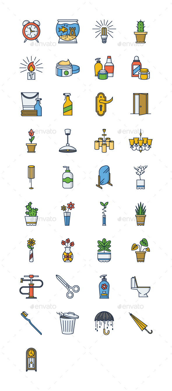 37 Home Icons - Objects Icons