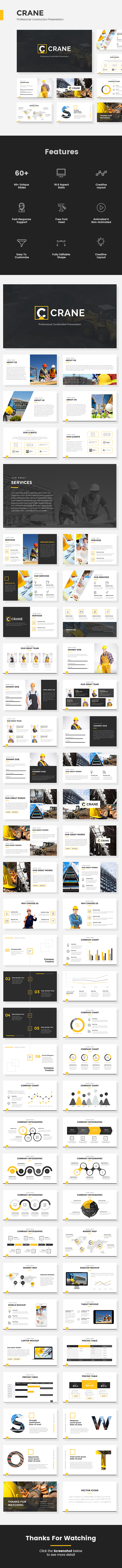 Crane - Professional Construction Google Slides Presentation - Google Slides Presentation Templates