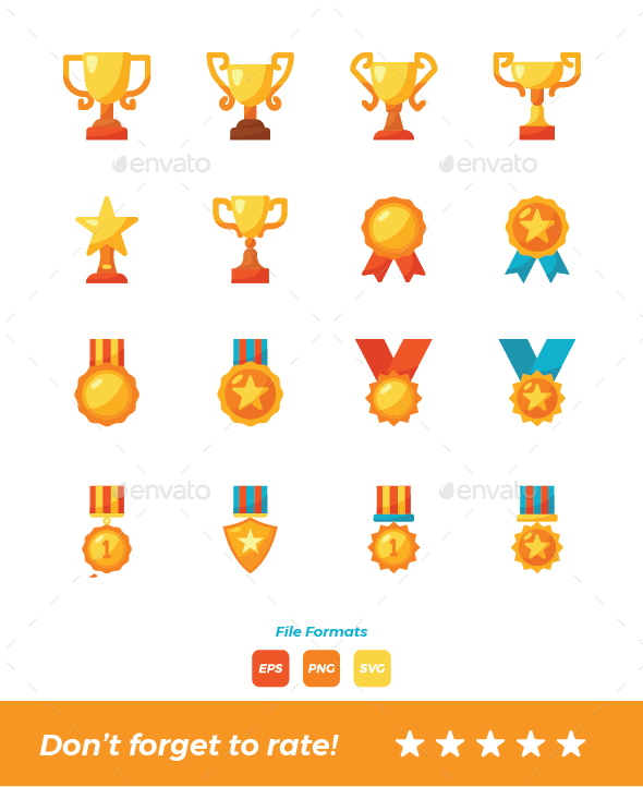 Trophy and Award Icons - Icons