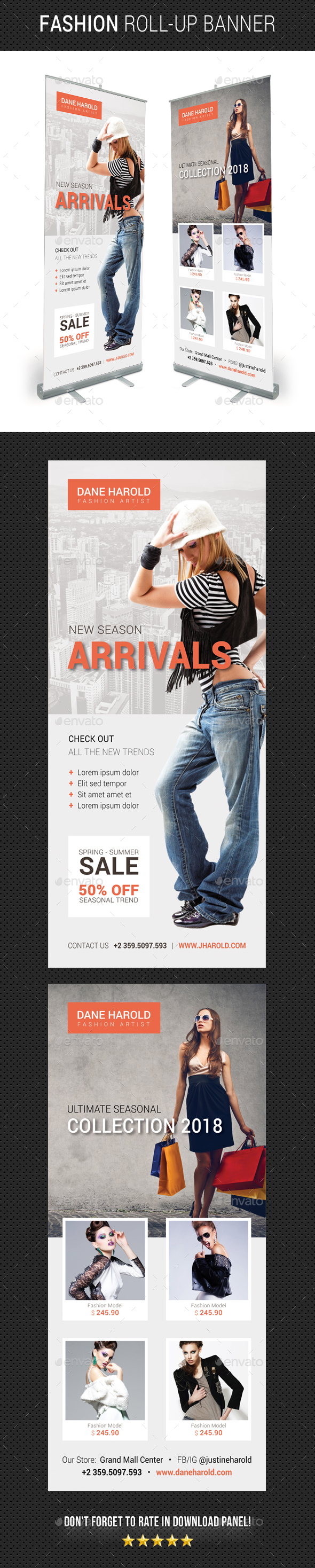 Fashion Roll-Up Banner 06 - Signage Print Templates