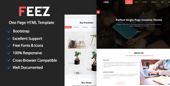 Download Feez Onepage Creative HTML Template