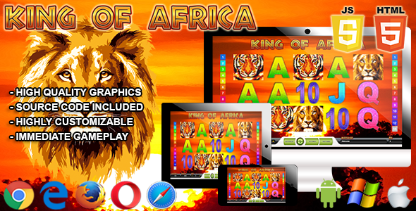 King of Africa - HTML5 Casino Game - CodeCanyon Item for Sale