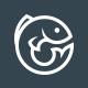 Fresh Blue Fish Logo
