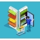 Isometric People Online Shopping