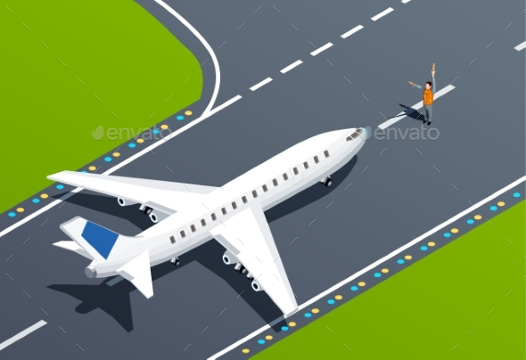 Airport Isometric Illustration - Travel Conceptual