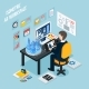 Augmented Reality Workplace Isometric Composition - GraphicRiver Item for Sale