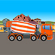 Cartoon Concrete Mixer Truck - VideoHive Item for Sale