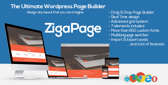 ZigaPage - WordPress Page Builder - CodeCanyon Item for Sale