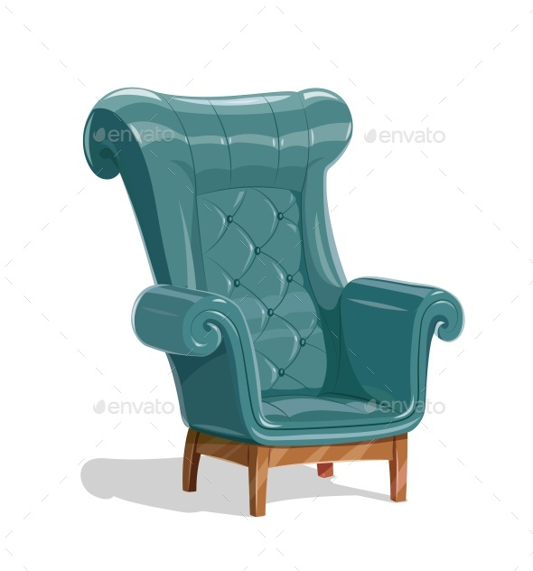 Leather Armchair - Man-made Objects Objects
