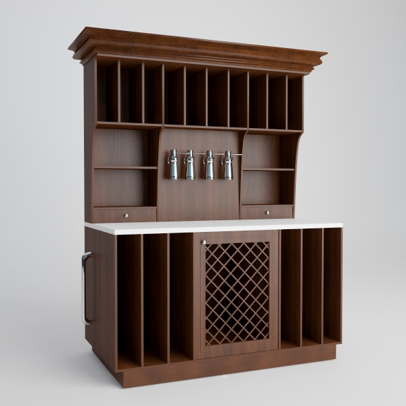 Wine shelf. - 3DOcean Item for Sale
