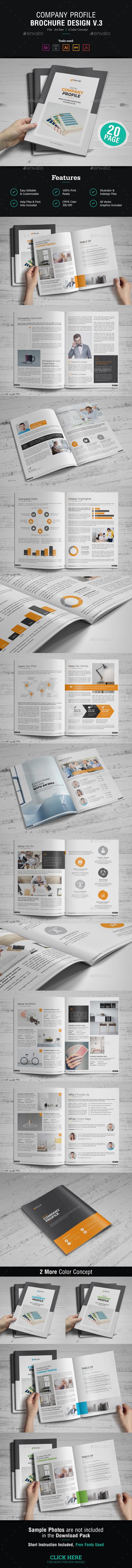 Company Profile Brochure Design v3 - Corporate Brochures