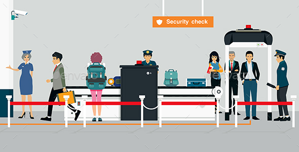 Security Check - Travel Conceptual