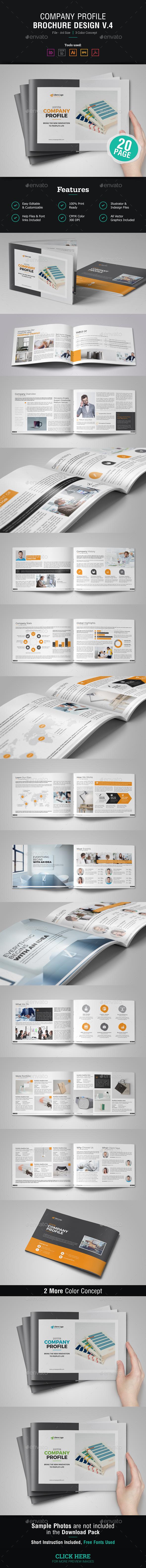 Company Profile Brochure Design v4 - Corporate Brochures