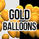 3D Gold Matte Party Balloons - VideoHive Item for Sale