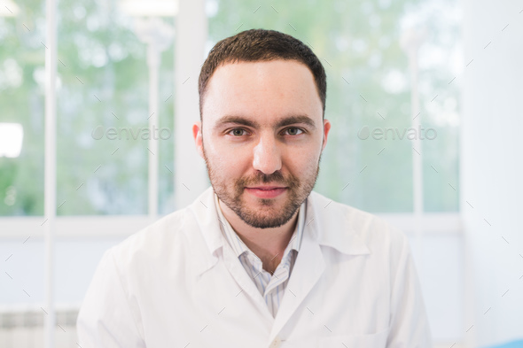 Close Up Of A Doctor on hospital ward Background - Stock Photo - Images