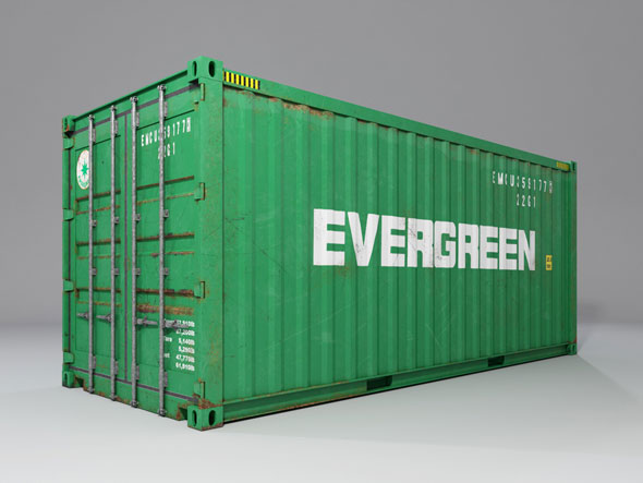 20ft shipping container - 3DOcean Item for Sale