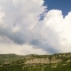 Clouds Over the Town and Mountains - VideoHive Item for Sale