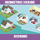 Isometric House Scheme - GraphicRiver Item for Sale