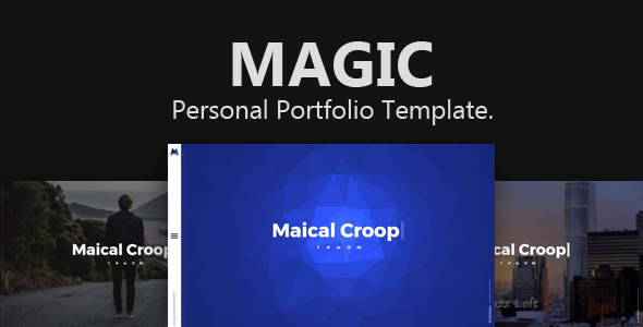 Magic - Creative Personal Portfolio Template.