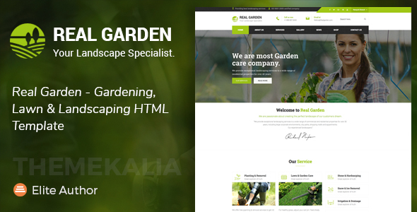 Real Garden - Gardening, Lawn & Landscaping HTML Template - Business Corporate