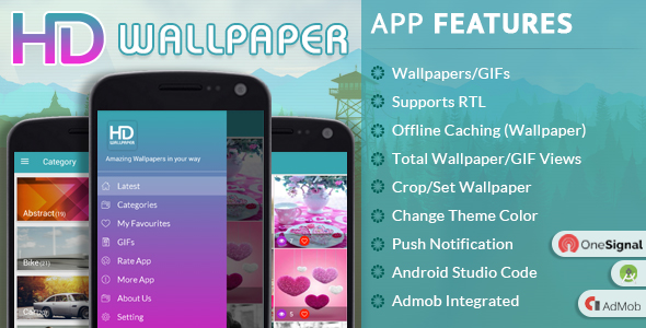 HD Wallpaper with Material Design - CodeCanyon Item for Sale