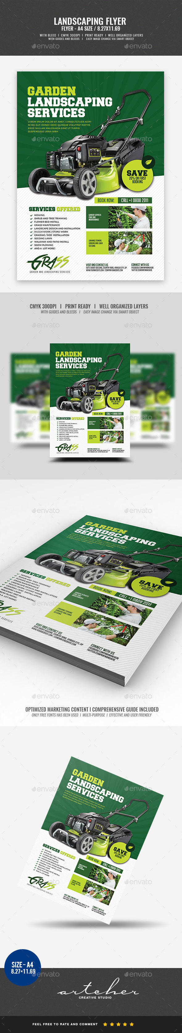 Landscaping Flyer - Flyers Print Templates