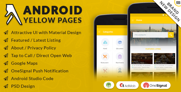 Android Yellow Pages With Material Design - CodeCanyon Item for Sale