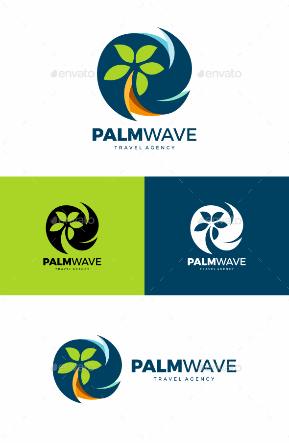 Palm Tree Logo - Nature Logo Templates