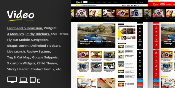 Video News = WordPress Magazine / Newspaper Theme