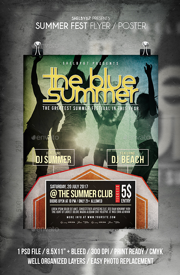 Summer Fest Flyer / Poster - Events Flyers