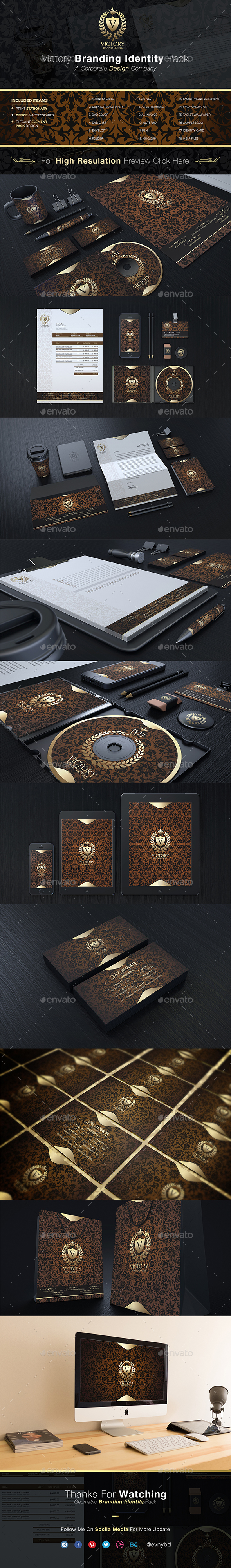 Victory Corporate Identity - Stationery Print Templates