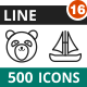 500 Vector Line Icons Bundle (Vol-16) Nulled