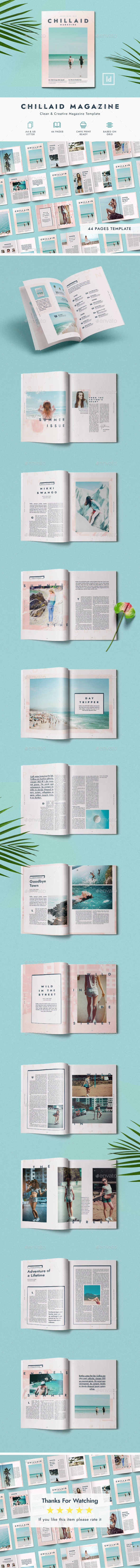 44 Pages - Chillaid Magazine Template - Magazines Print Templates