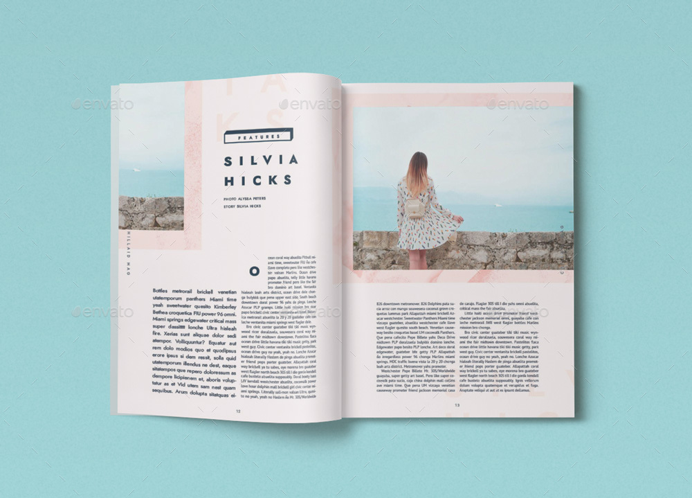 44 pages chillaid magazine template by danibernd graphicriver. Black Bedroom Furniture Sets. Home Design Ideas