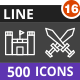 500 Vector Inverted Line Icons Bundle (Vol-16) Nulled
