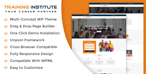 Download Education & Training Institute WordPress Theme