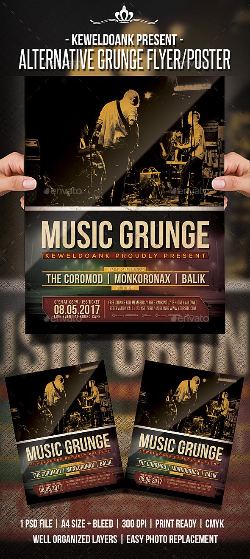 Alternative Grunge Flyer / Poster - Concerts Events