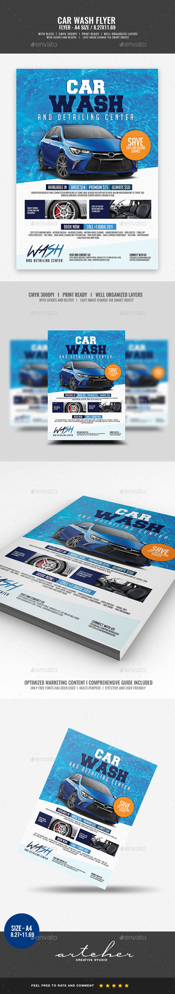 Car Wash Flyer v2 - Corporate Flyers