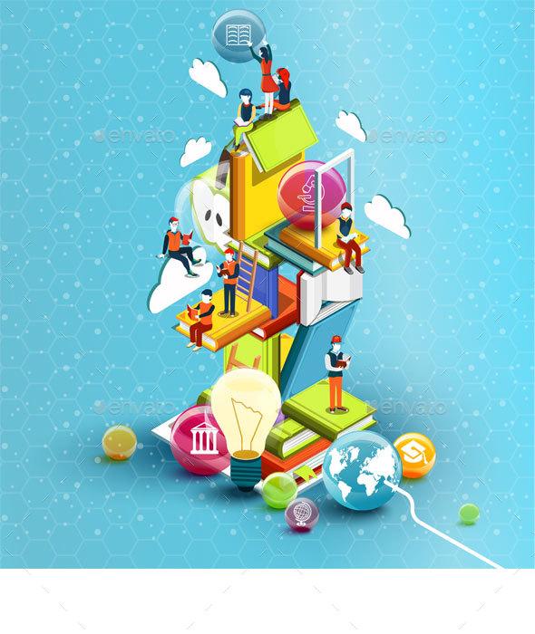 Educational Concept - Abstract Conceptual