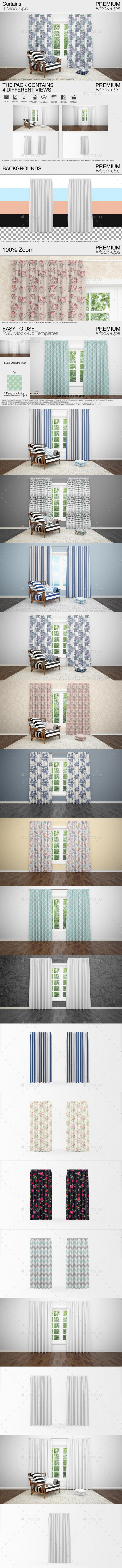 Curtains Mockup Pack - Print Product Mock-Ups