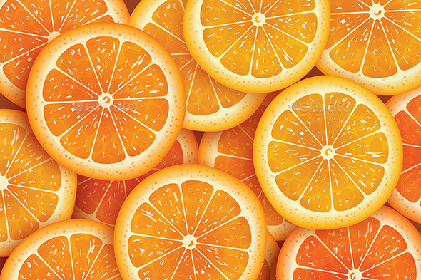 Orange Slice Background For Summer. - Food Objects