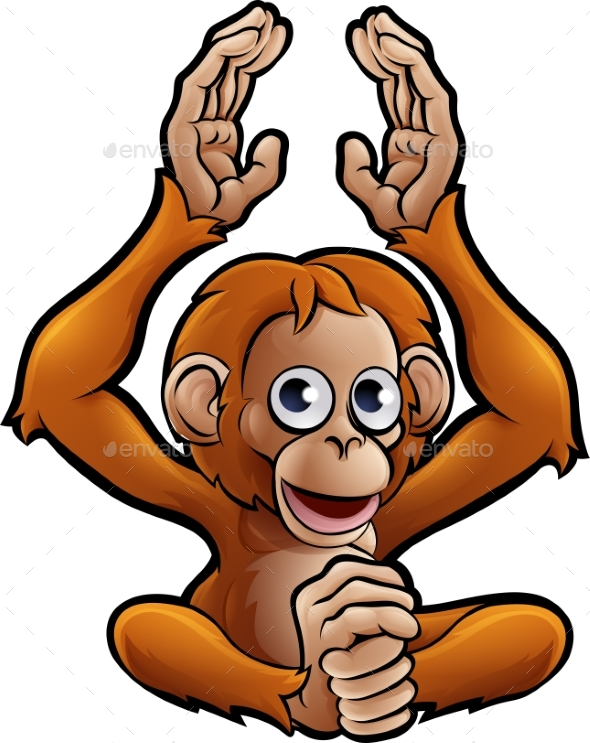 Orangutan Safari Animals Cartoon Character - Animals Characters