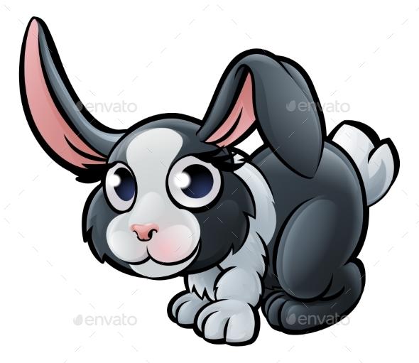 Rabbit Farm Animals Cartoon Character - Animals Characters