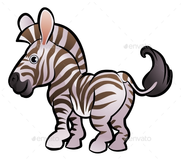 Zebra Safari Animals Cartoon Character - Animals Characters