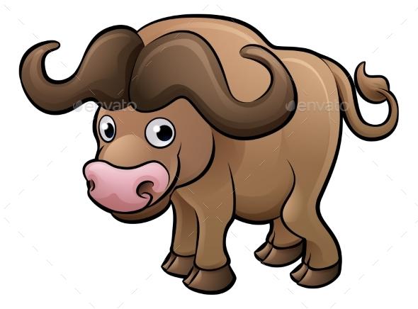 Bison Safari Animals Cartoon Character - Animals Characters