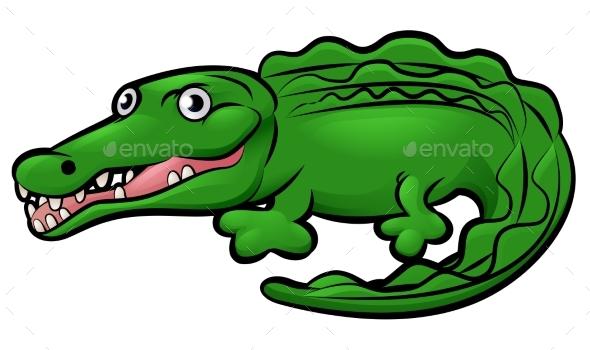Crocodile Alligator Animal Cartoon Character - Animals Characters