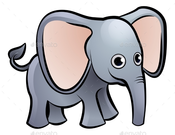 Elephant Safari Animals Cartoon Character - Animals Characters
