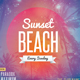 Sunset Beach - PSD Flyer Template - GraphicRiver Item for Sale