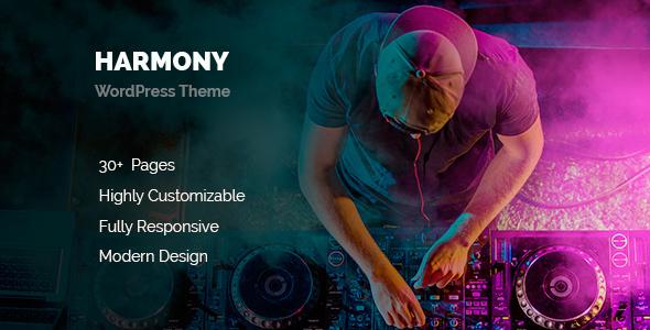 ThemeForest Harmony Music WordPress 20048080