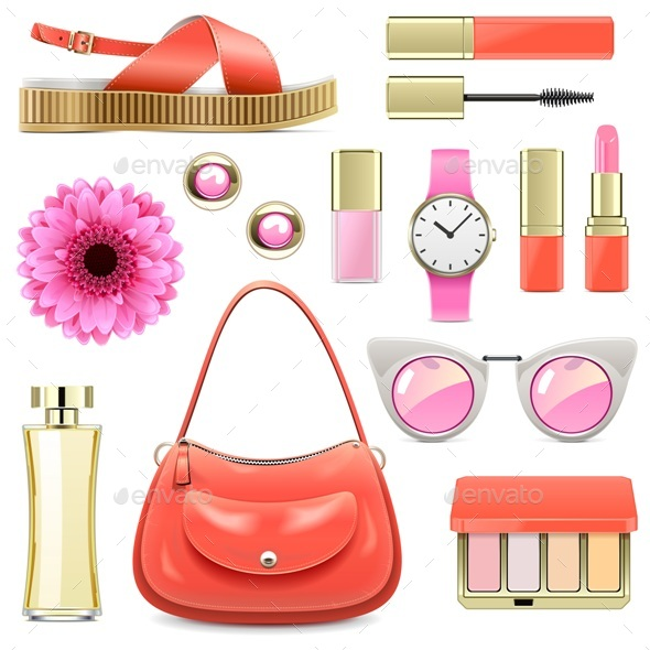 Vector Fashion Accessories Set 7 - Commercial / Shopping Conceptual